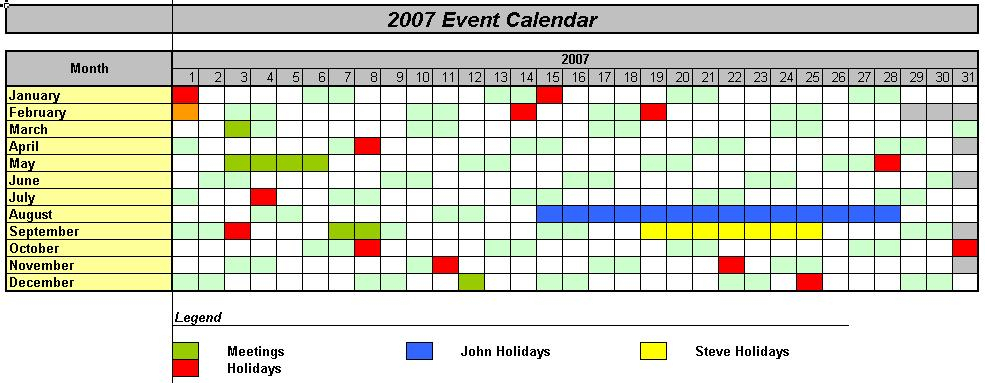 Officehelp  Macro (00037)  Traditional Calendars For Excel pertaining to Yearly Event Calendar Template Excel