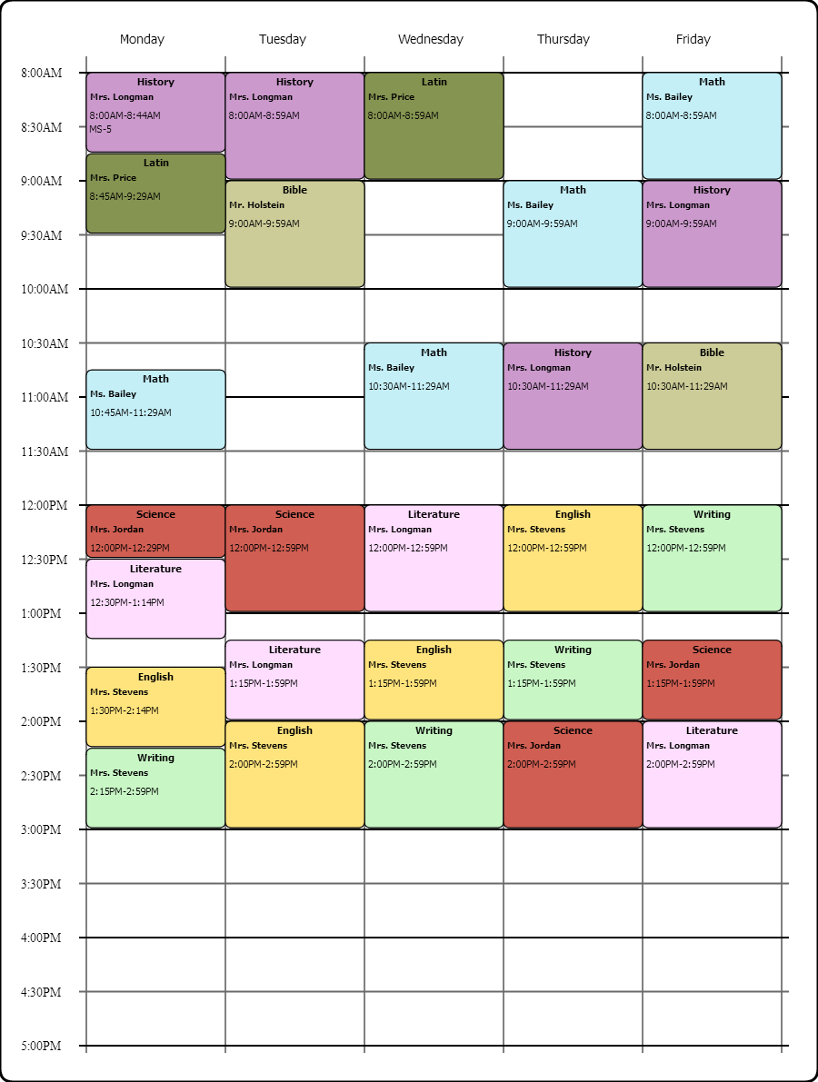 Online Weekly Class Scheduling Templatei Used The Free intended for Weekly Class Schedule Template