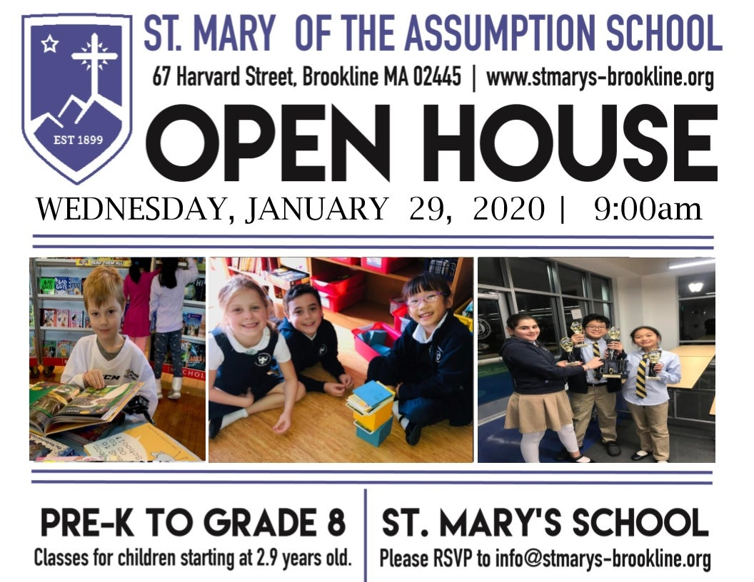 Open House At St. Mary'S Brookline  Inside Brookline regarding Brookline Ma School Calendar