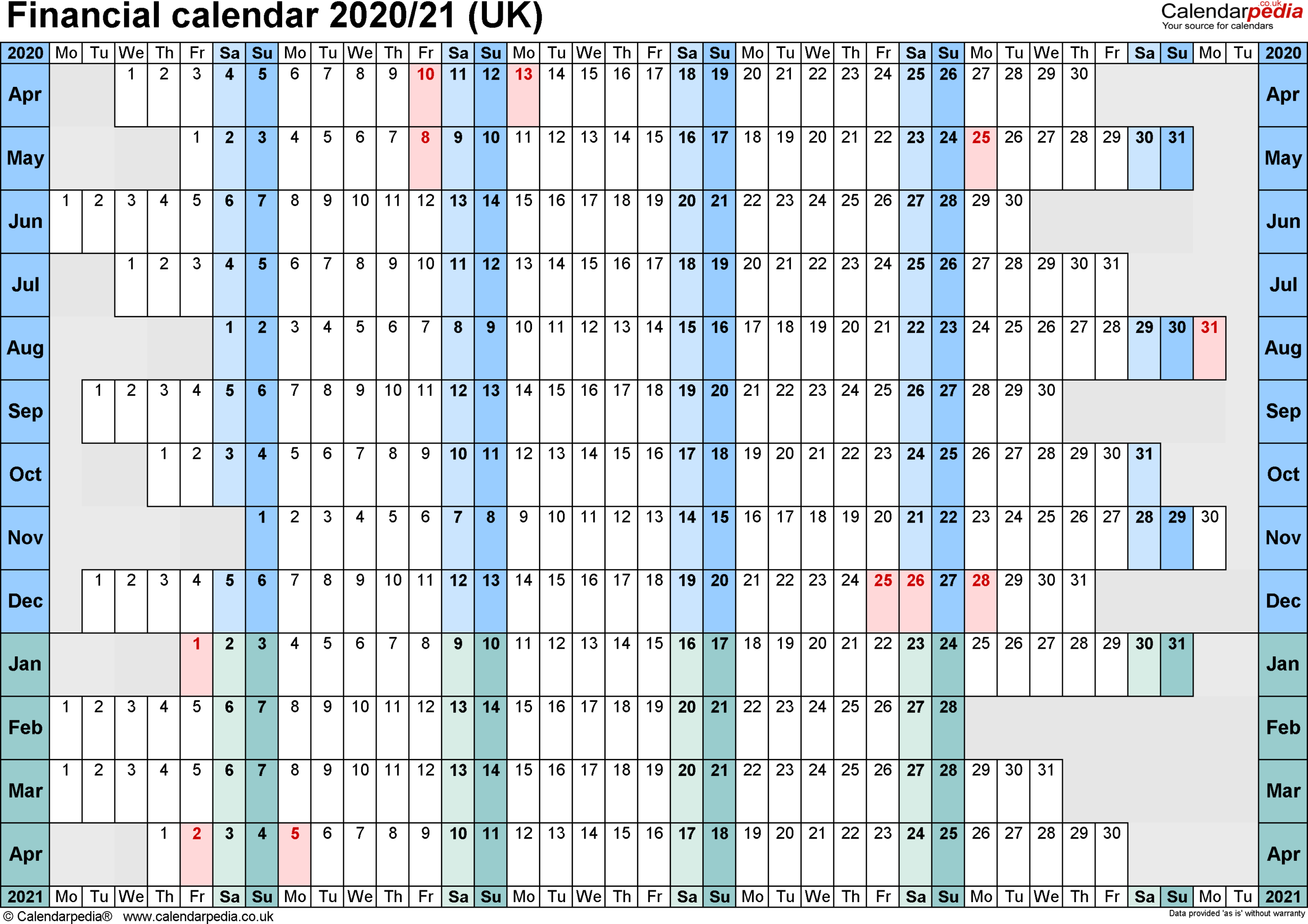Payroll Tax Calendar 202021 Sage | Payroll Calendar 2020 with Financial Calendar 2021/21 Excel