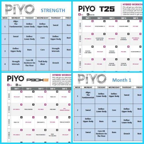 Pin By Chad Pink | Zillafitness On Beachbody Worksheets pertaining to Printable Piyo Calendar
