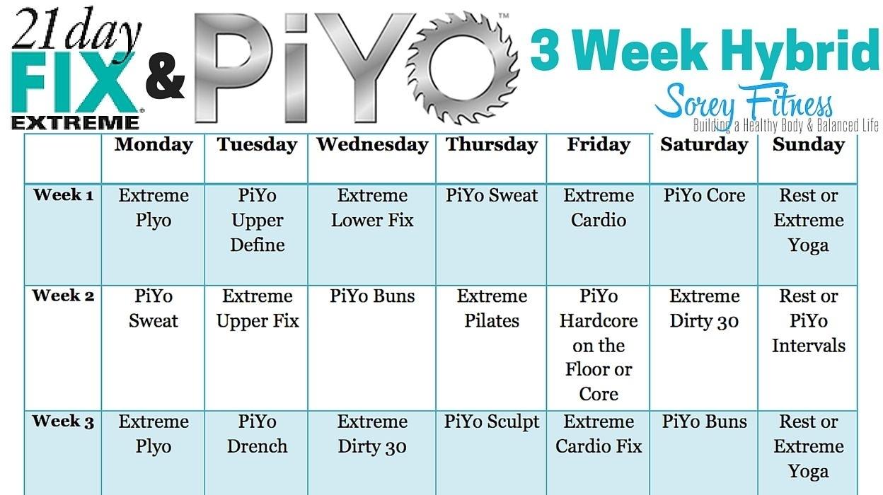 Piyo 8 Week Calendar | Ten Free Printable Calendar 20202021 pertaining to Printable Piyo Calendar