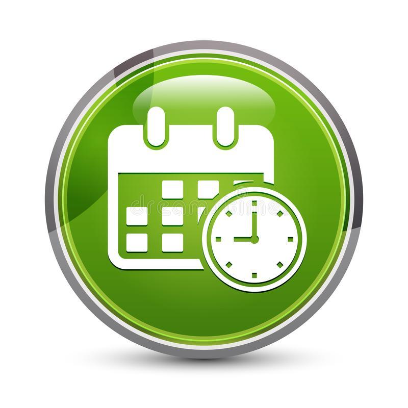 Plan Elegant Yellow Diamond Button Stock Illustration in Calendar Icon Green