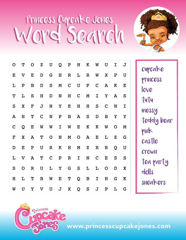 Play  Princess Cupcake Jones intended for Princess Word Search