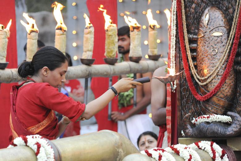 Pournami Abhishekam And Pooja | Maha Arati | Linga Bhairavi intended for Isha Moon Calendar