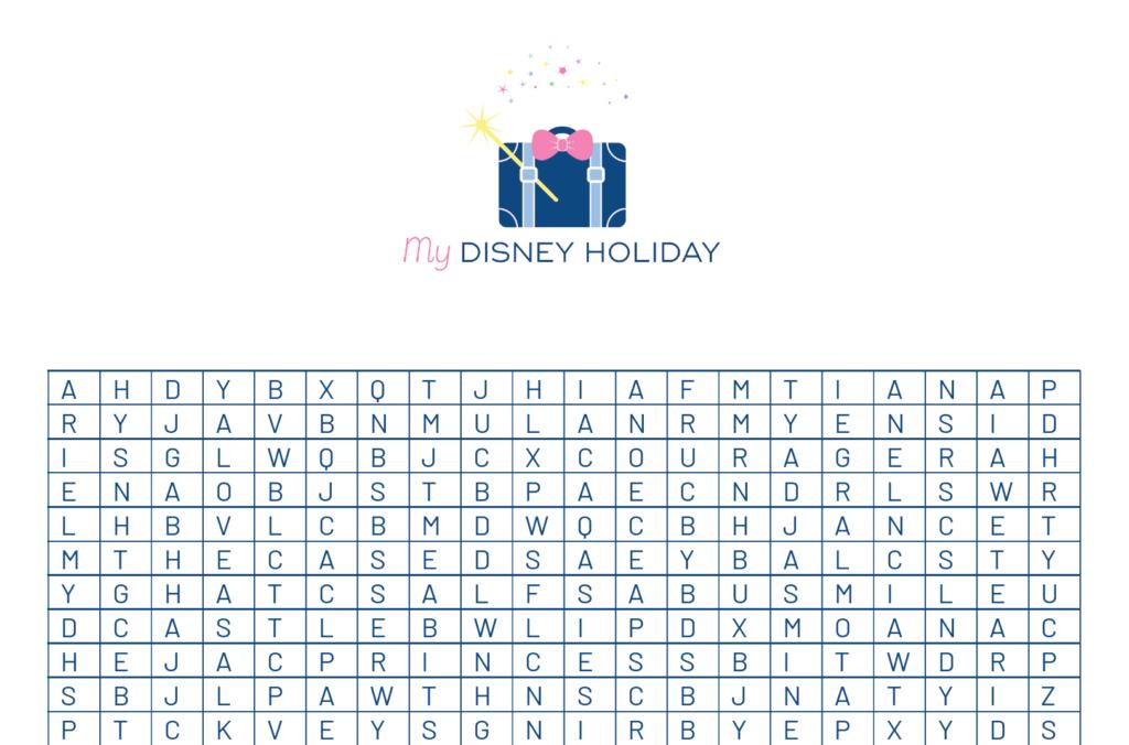 Princess Activities  5 Royal Disney Inspired Activities regarding Princess Word Search