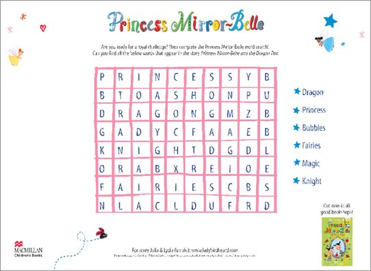 Princess Mirrorbelle Wordsearch  Scholastic Shop intended for Princess Word Search