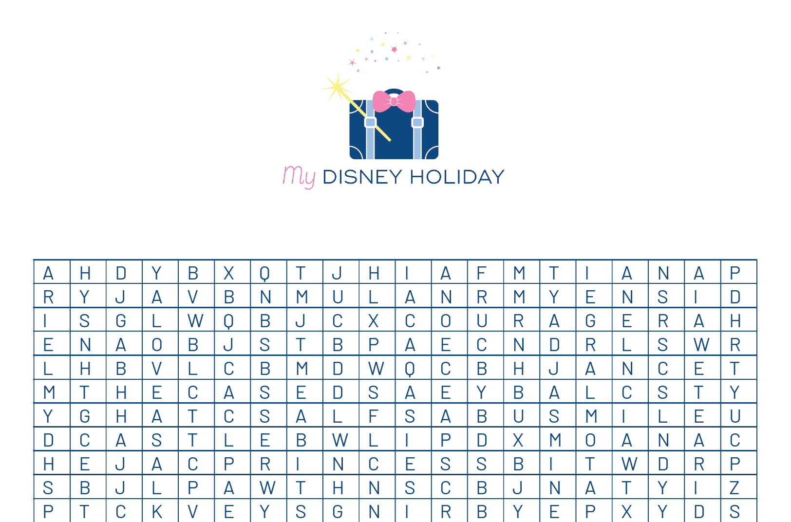 Princess Wordsearch  Free Printable  My Disney Holiday throughout Disney Princess Word Search Printable