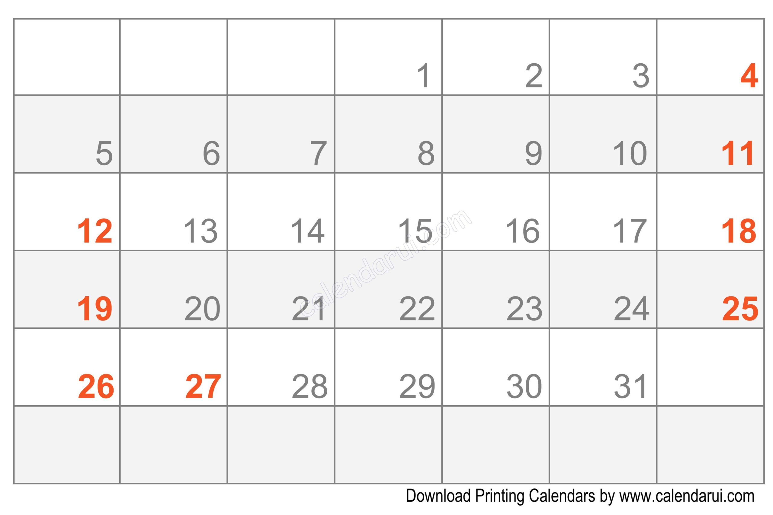 Printable Blank Calendar Template Free | Calendar Template with Calendar To Fill In