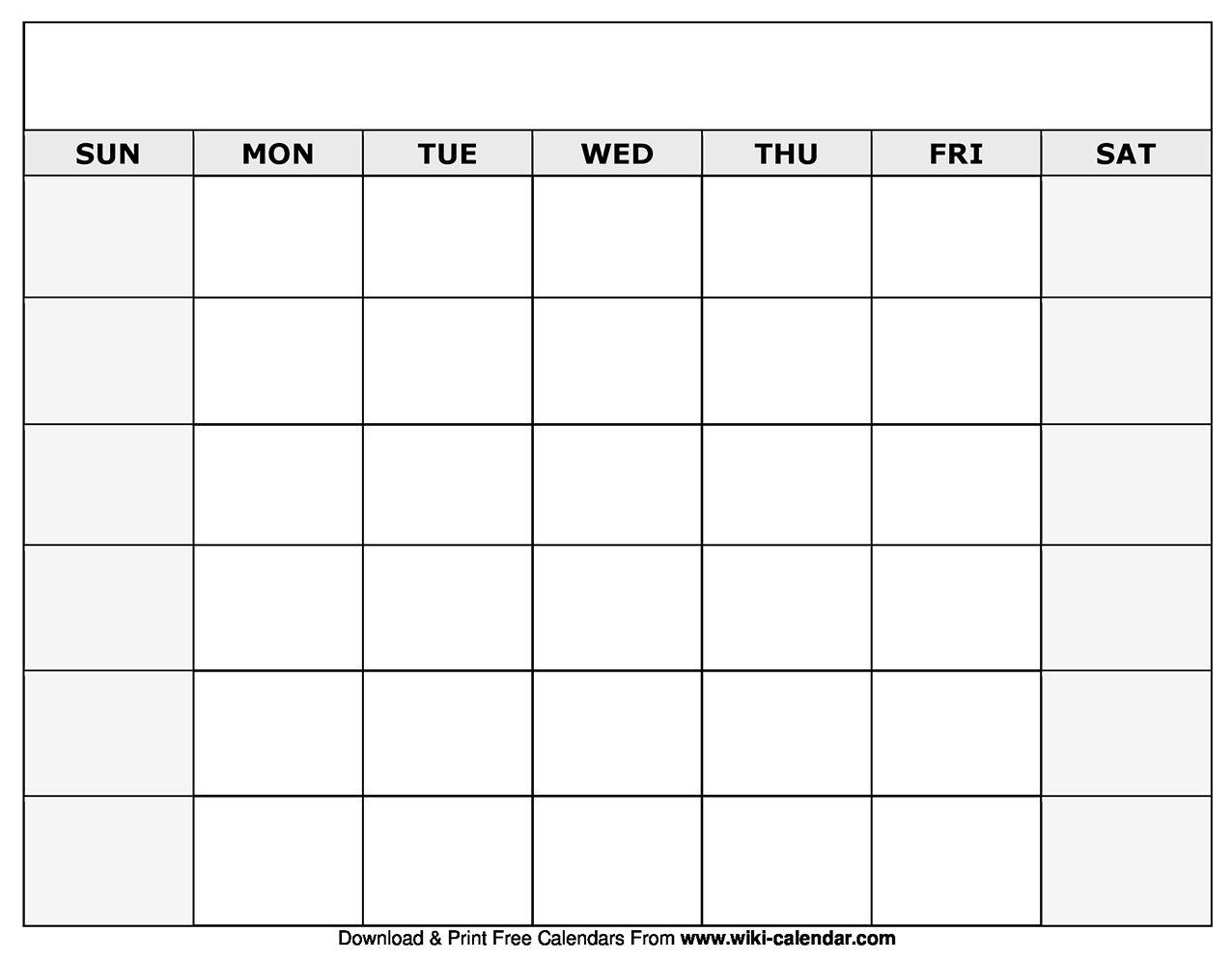 Printable Blank Calendar Templates | Blank Monthly throughout Free Printable Monthly Calendar Pages With Lines