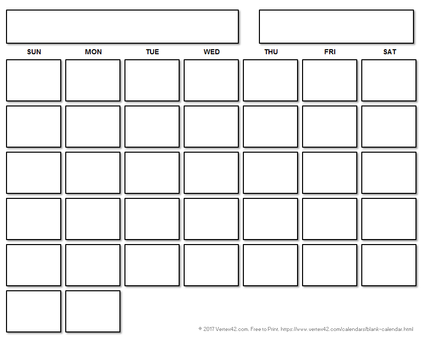 Printable Blank Calendar With A Floating Grid | Printable in Calendar To Fill In