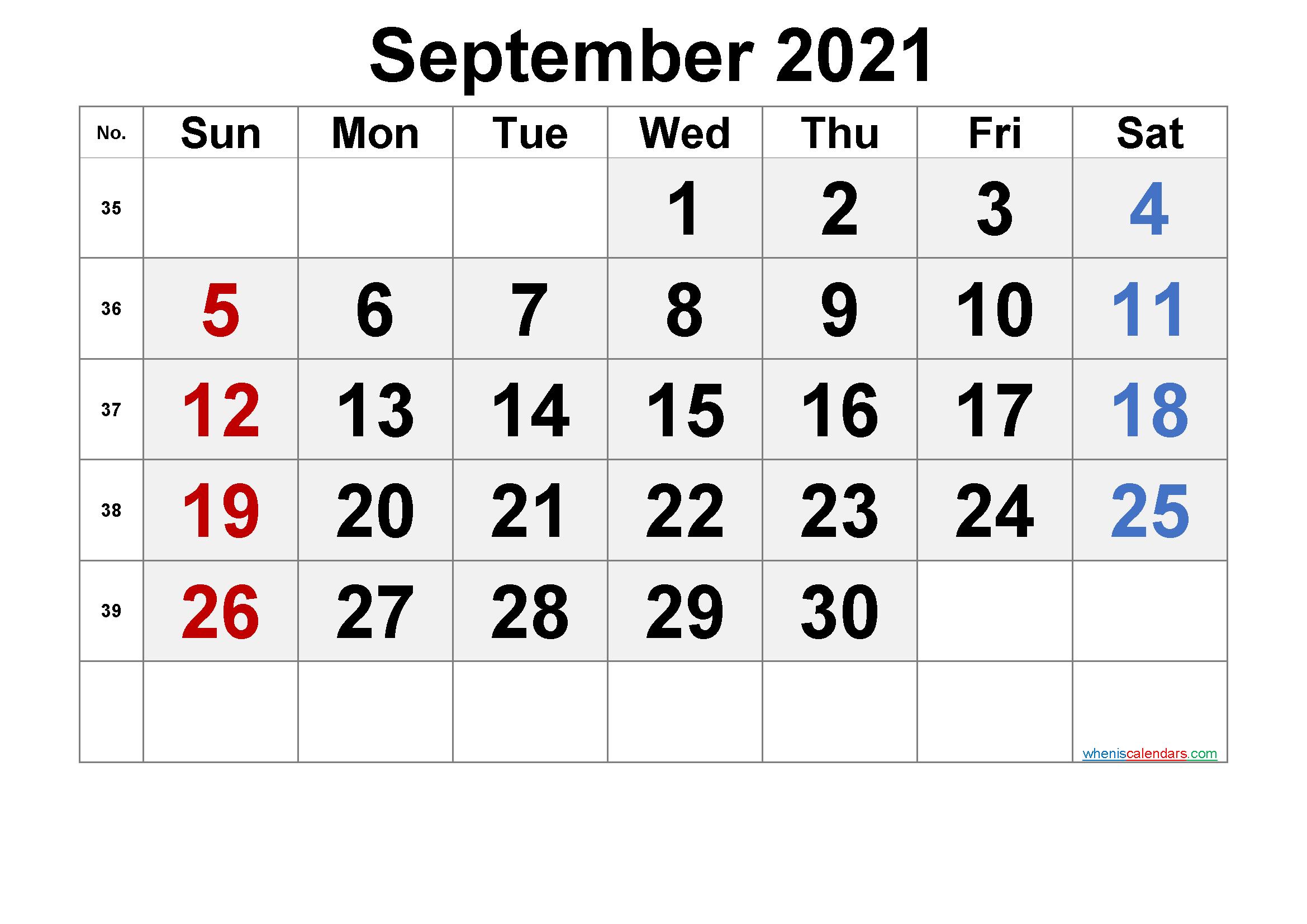 Printable Calendar September 2021  6 Templates   Free with regard to 3 Month Printable Calendar Templates 2021 Sept