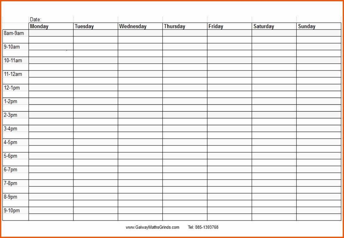 Printable Calendar Time And Date | Ten Free Printable regarding Blank Daily Calendar With Time Slots Printable