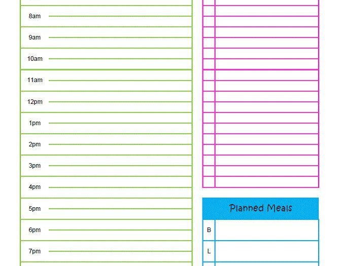 Printable Daily Docket 6Am 10Pm Time Slots With To Do inside Printable Daily Planner With Time Slots