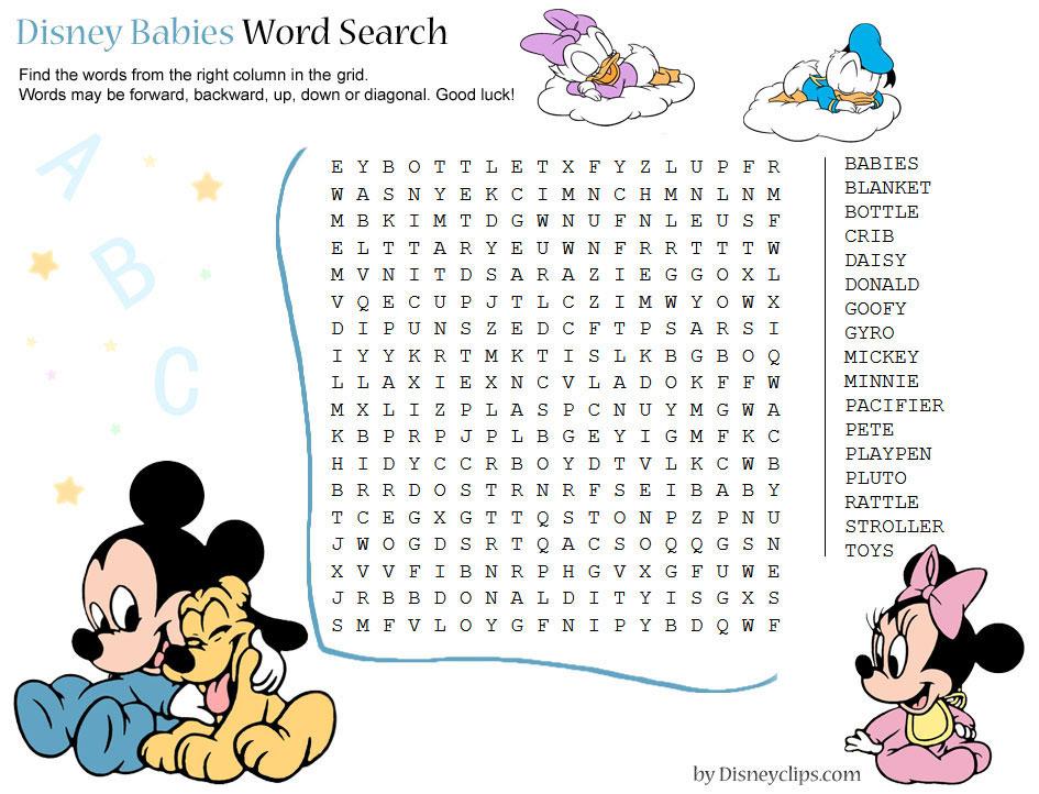 Printable Disney Word Search Games (2) | Disneyclips with regard to Disney Word Searches Printable