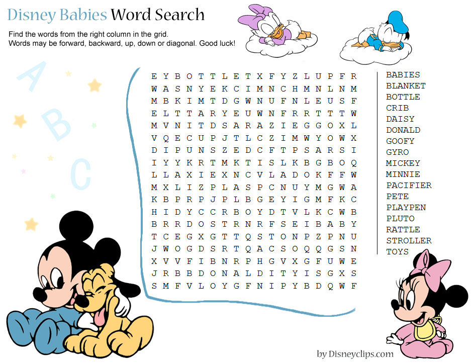 Printable Disney Word Search Games (2) | Disneyclips within Princess Word Search