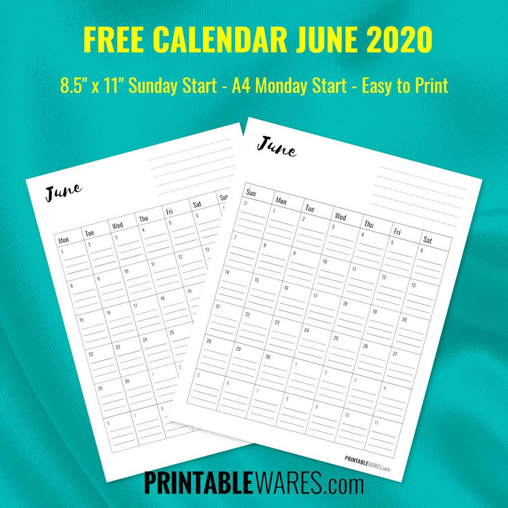 Printable Lined Blank Monthly Calendar 2020 inside Blank Monthly Calendar With Lines
