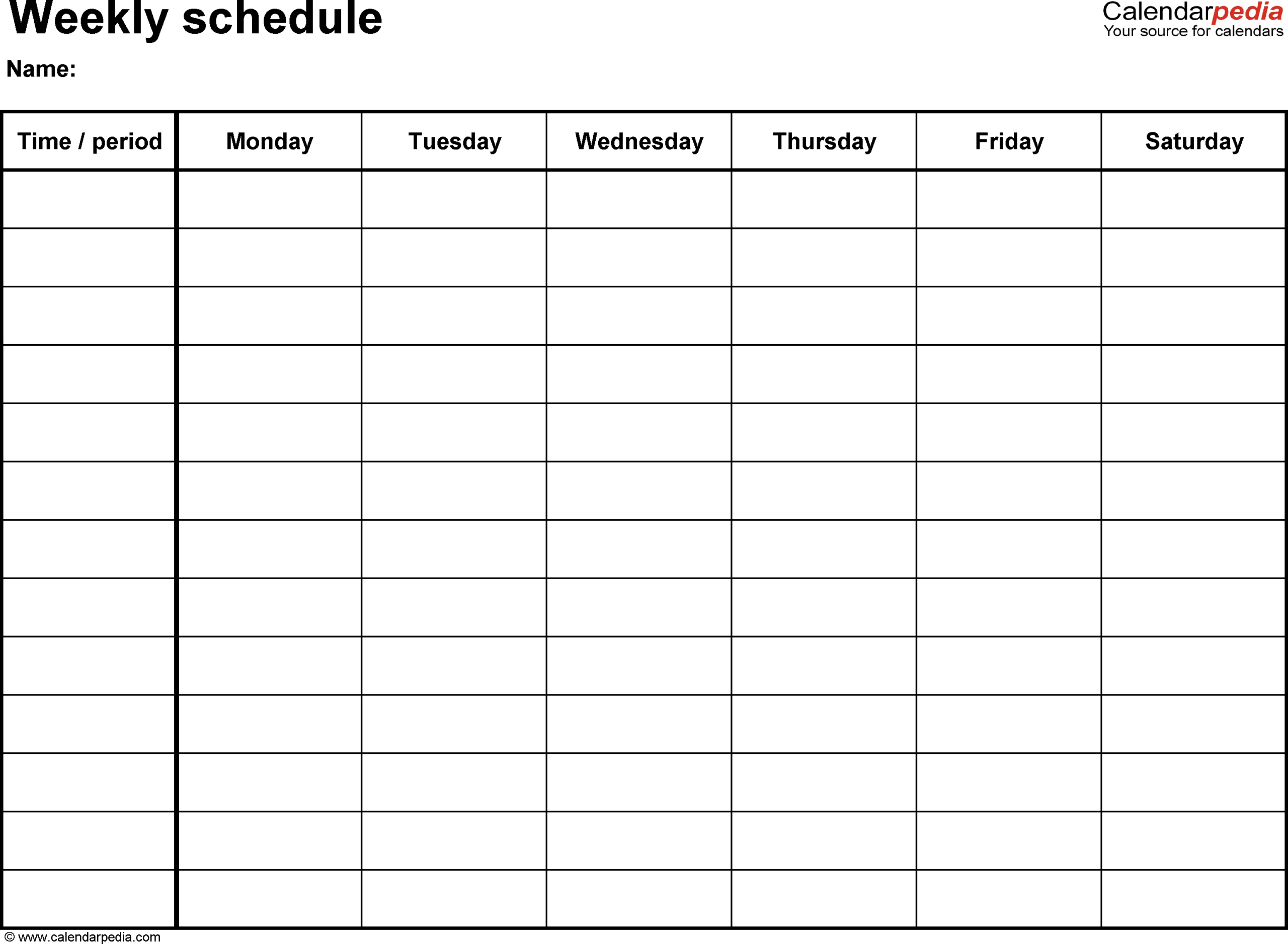 Printable Monthly Calendar Sunday To Saturday No Dates in Sunday To Saturday Week Calendar