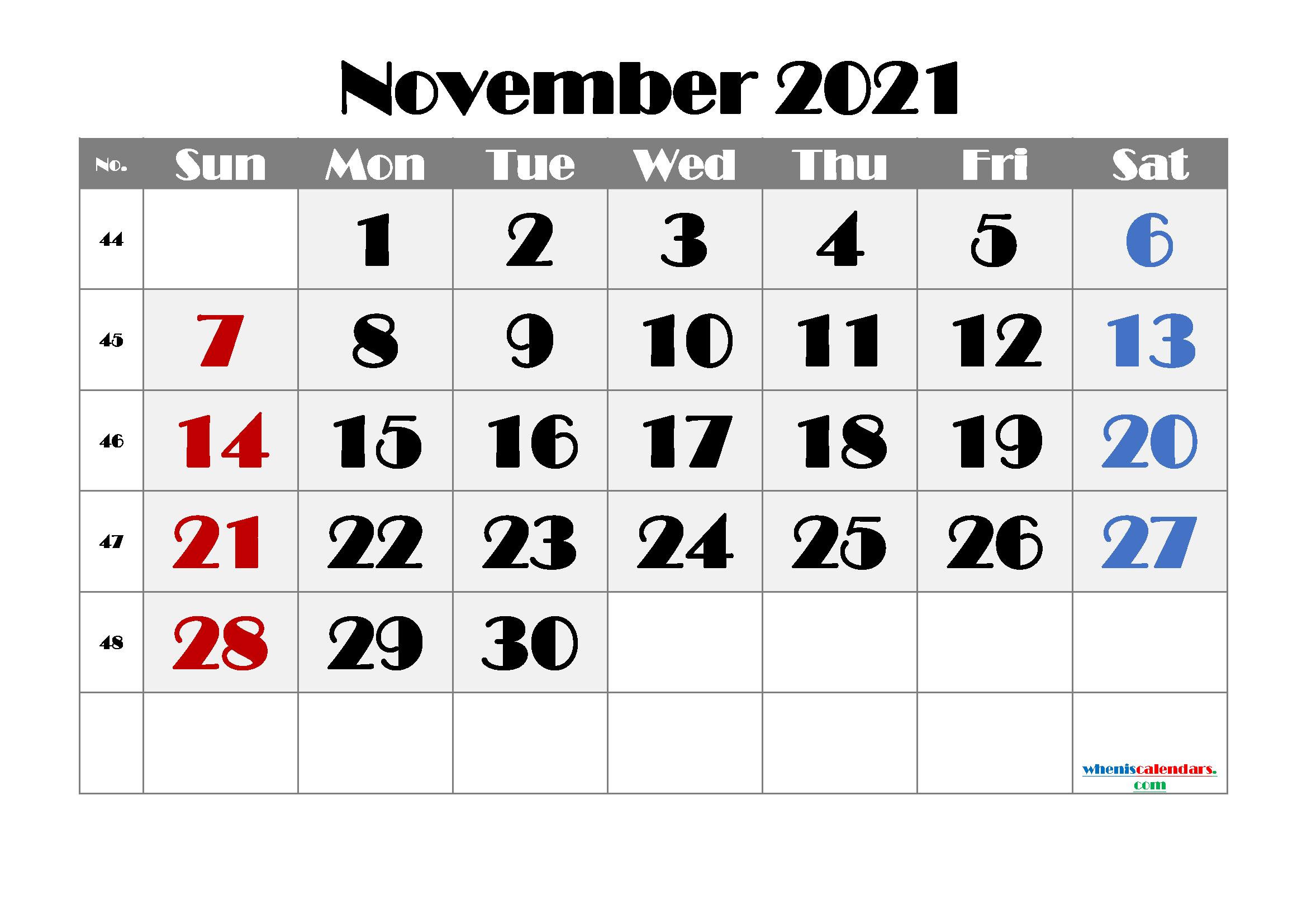 Printable November 2021 Calendar | Template M21Broadway3 pertaining to Printable 3 Month Calendar 2021 Free