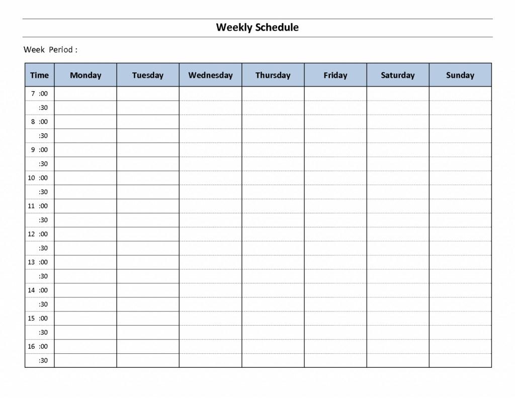 Printable Weekly Calendar With Time Slots | Calendar For inside Printable Weekly Planner With Time Slots
