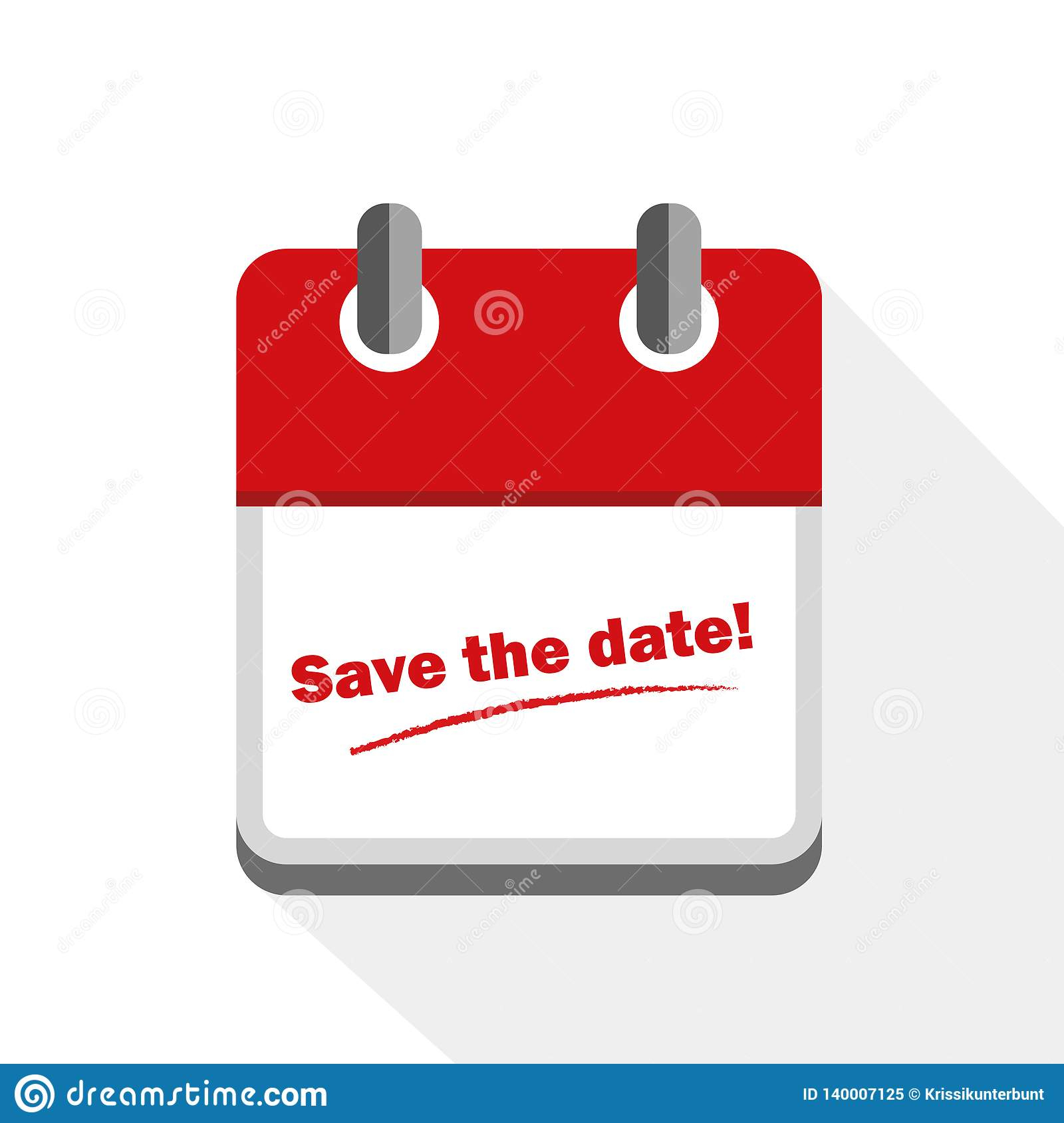 Save The Date Red Calendar Icon Stock Vector with regard to Calendar Icon Red