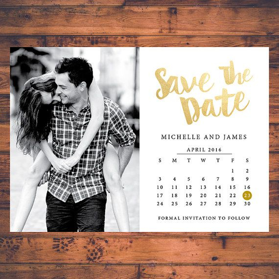 Savethedate Invitation Calendar Save The Dates Faux Gold with regard to Please Save The Date In Your Calendar