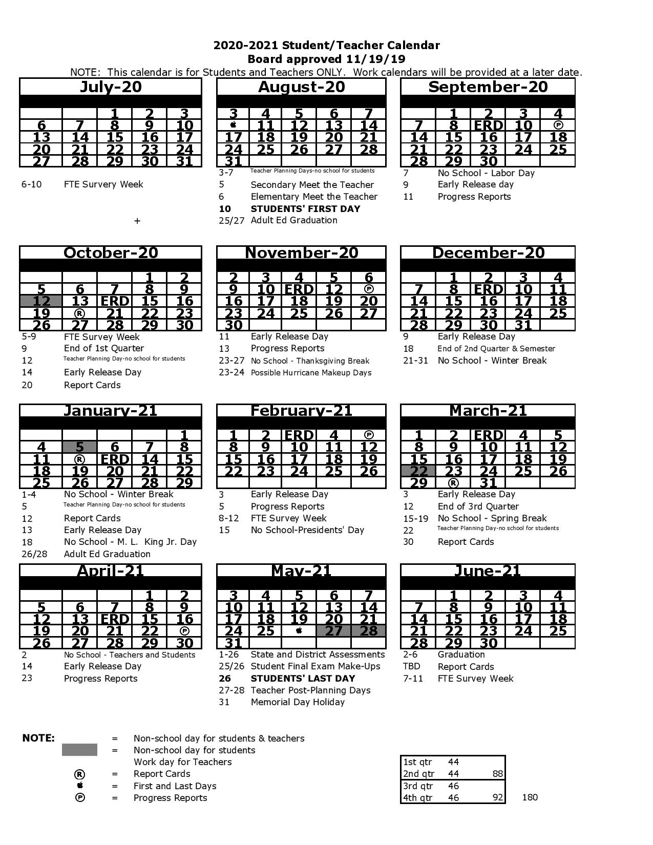 School Calendar Archives  You Calendars regarding Pb County School Calendar