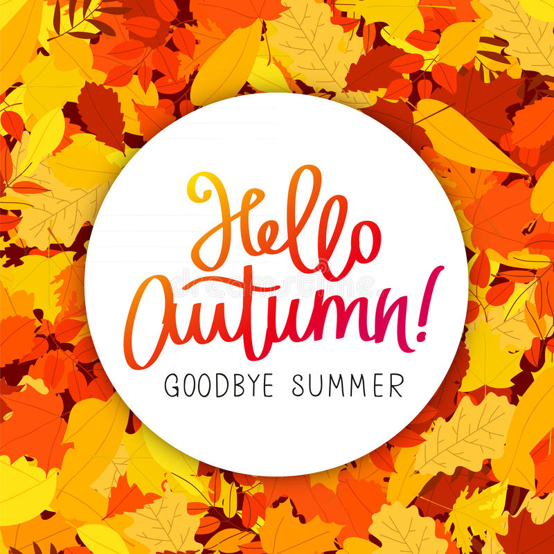 Season`s Greetings. Lettering And Calligraphy Stock Vector with regard to Goodbye Summer Hello Fall Wallpaper