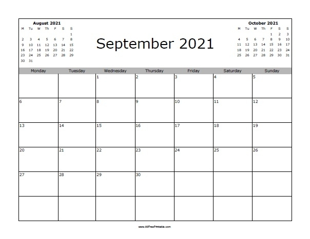 September 2021 Calendar Free | Calvert Giving regarding Printable 3 Month Calendar 2021 Free