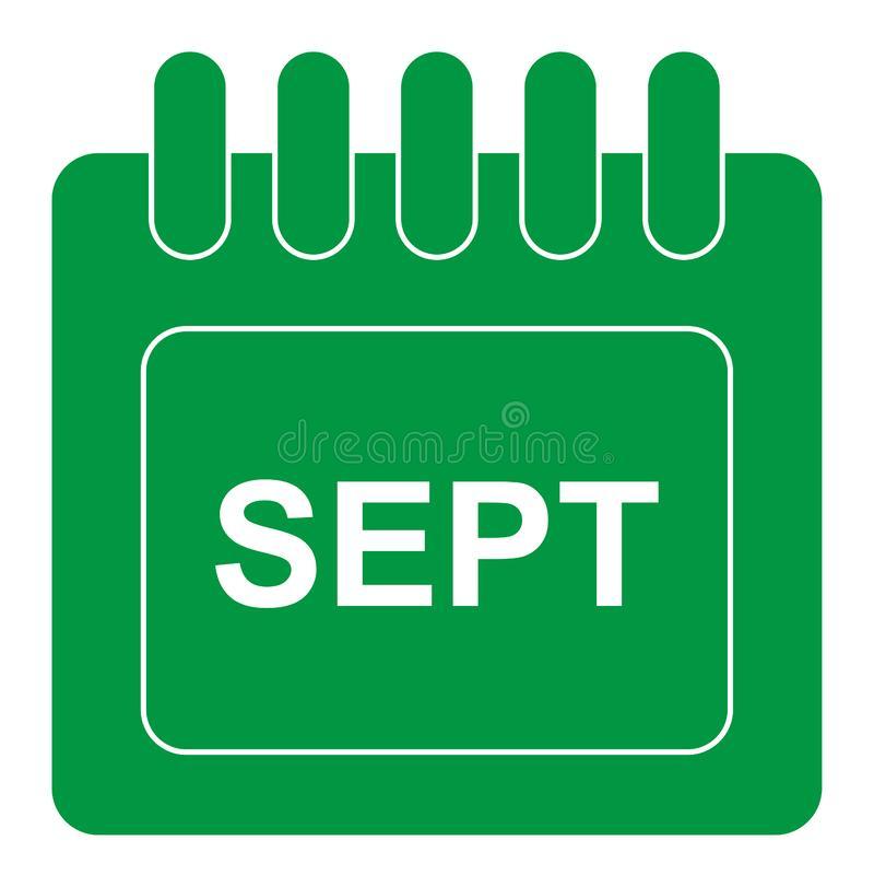 September Stock Illustrations  95,338 September Stock regarding Calendar Icon Green