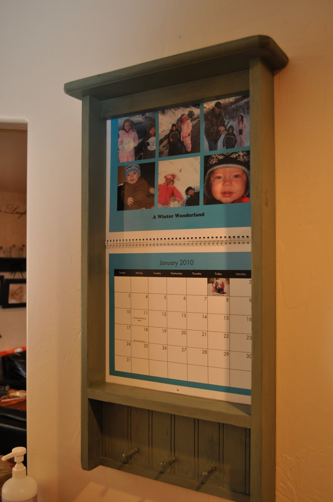 Shelves And Stuff: Shelves with Calendar Frames And Holders