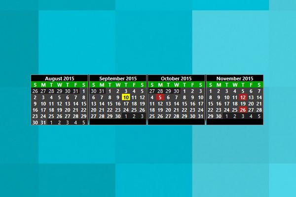 Simple Calendar Windows 10 Gadget  Win10Gadgets within Windows 10 Calendar Widget