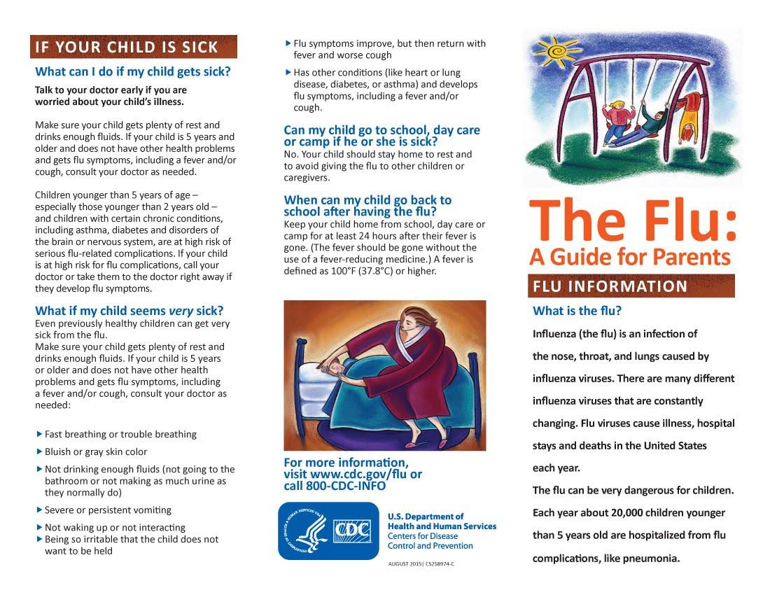 The Flu  A Guide For Parents  Lyndon Town School regarding Lyndon Town School Calendar