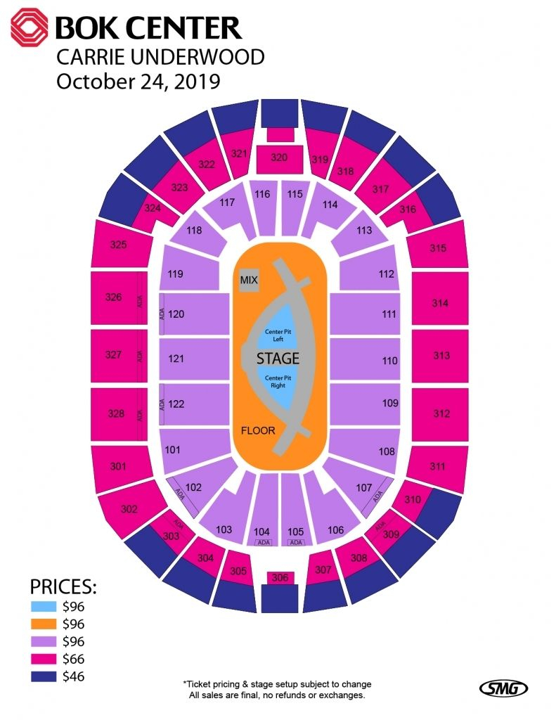 The Stylish Along With Stunning Bok Tulsa within Bok Center Seating Chart Detailed