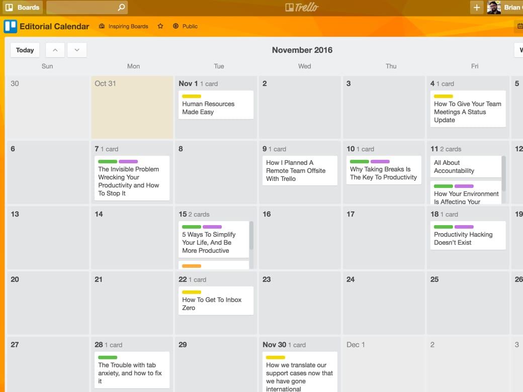 Trello For Marketing Teams regarding Teamup Calendar Outlook