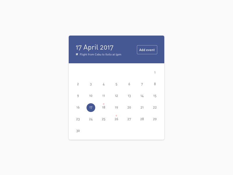 Ui# Calendar By Justine Win On Dribbble inside Calendar Icon Material Ui