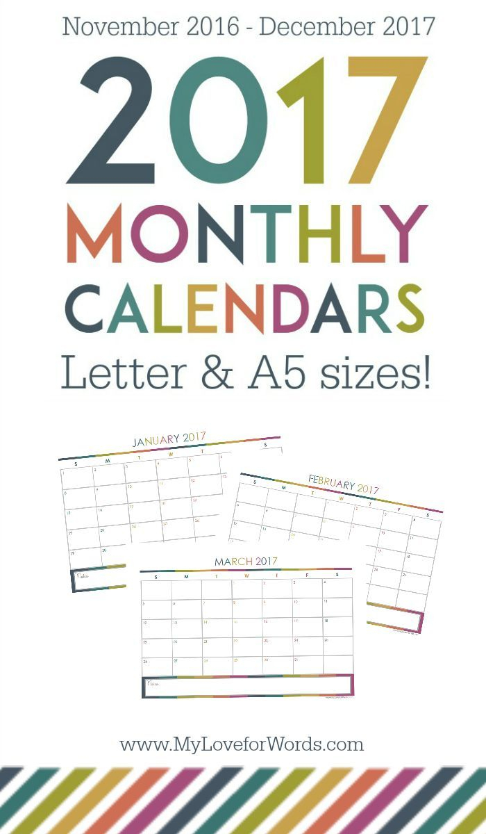 Ultimate Planner Giveaway & Free Printable 2017 Monthly with Most Goals In A Calendar Year