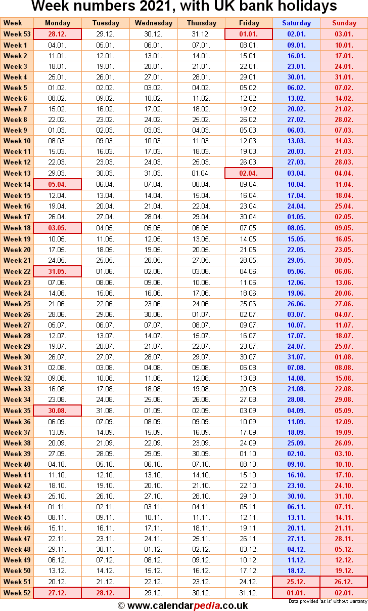 Week Numbers 2021 With Excel, Word And Pdf Templates throughout Financial Calendar 2021/21 Excel