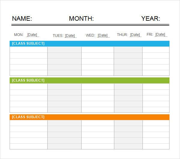 Weekend Schedule Template Excel  Printable Schedule Template for 5 Day Calendar Template Word