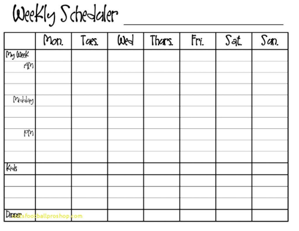 Weekly Calendar Template Monday To Friday | Example with regard to Free Monday Through Friday Calendar