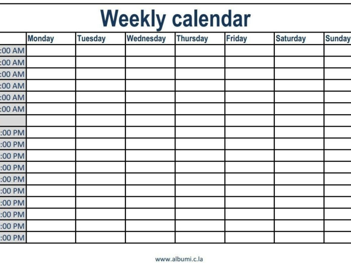 Weekly Planner With Time Slots  Calendar Inspiration Design within Free Weekly Calendar Template With Time Slots
