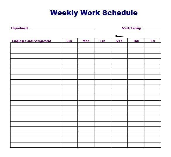 Weekly Schedule Template Download 2 Benefits Of Weekly within Weekly Class Schedule Template