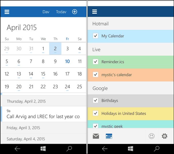 Windows 10 For Phones Update Build 10051 Now Available within How To Put Calendar On Desktop Windows 10