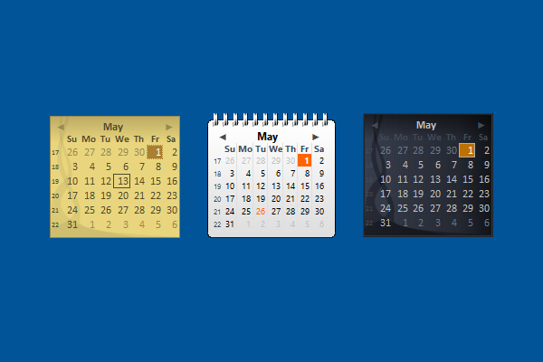 Windows Live Calendar Windows 10 Gadget  Win10Gadgets pertaining to How To Put Calendar On Desktop Windows 10