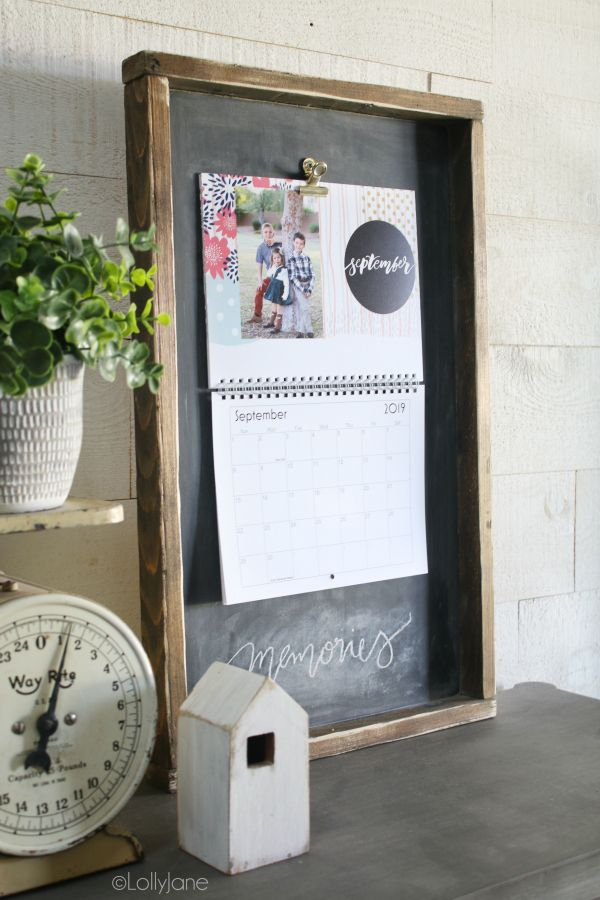 Wood Calendar Holder | Diy Calendar, Custom Photo Calendar in Calendar Frames And Holders
