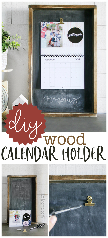 Wood Calendar Holder  Lolly Jane for Calendar Frames And Holders