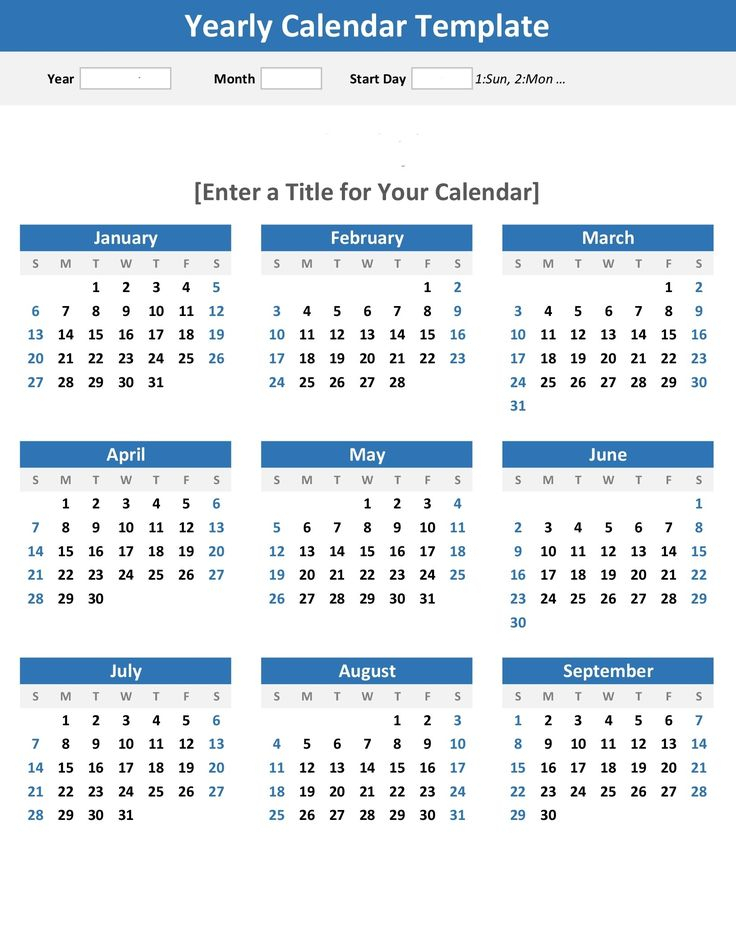 Year At A Glance Calendars Printable In 2020 | Blank in Blank Year At A Glance Calendar
