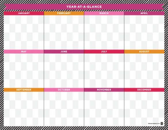 Yearataglance | At A Glance Calendar, Blank Calendar with Blank Year At A Glance Calendar