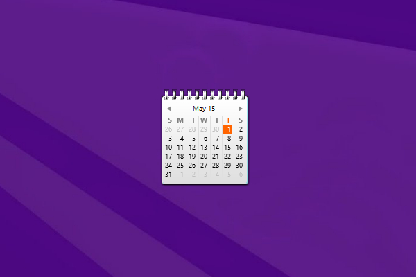 Zerog Calendar Windows 10 Gadget  Win10Gadgets intended for Windows 10 Calendar Widget
