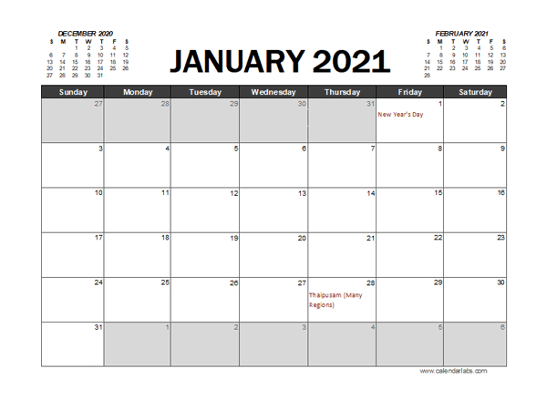 2021 Calendar Planner Malaysia Excel  Free Printable within 2021 Lined Calendar Printable Excel